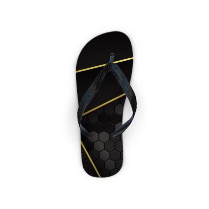 Flip Flops black gold