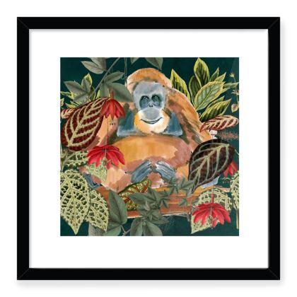 Jungle Orangutan Framed Art Prints