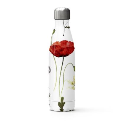 Poppies Stainless Steel Thermal Bottle
