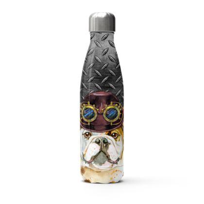 Steampunk Bulldog Stainless Steel Thermal Bottle
