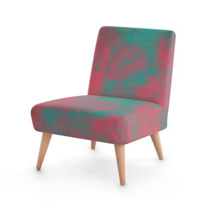 Pink and Mint Occasional Chair