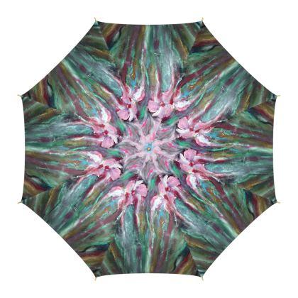 Pink Lillies Luxury Umbrella by Alison Gargett Artist and Designer