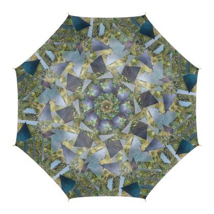 Fragmentation Luxury Umbrella by Alison Gargett