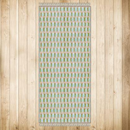 XL Teasel Stripe Rug - Khaki / Rose