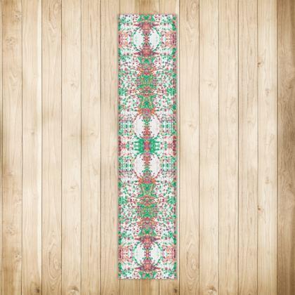 Damask Leaf Runner Rug - Long
