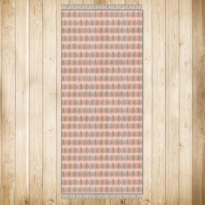 XL Rug Teasel Stripe Rose/Rust