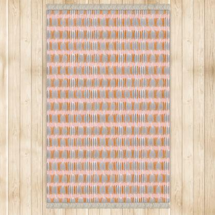 Teasel Stripe Rug - Large - Rose/Rust