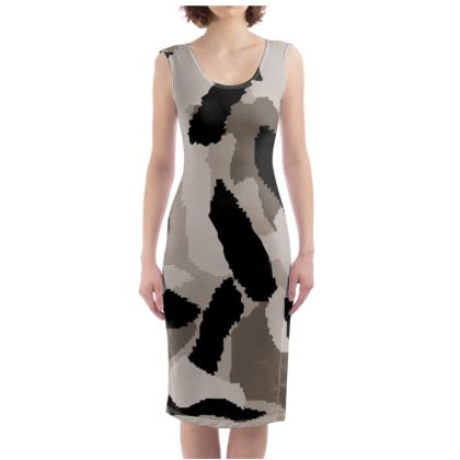 Camouflage Design Bodycon Dress