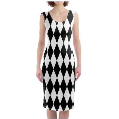Bodycon Dress Diamonds black And White