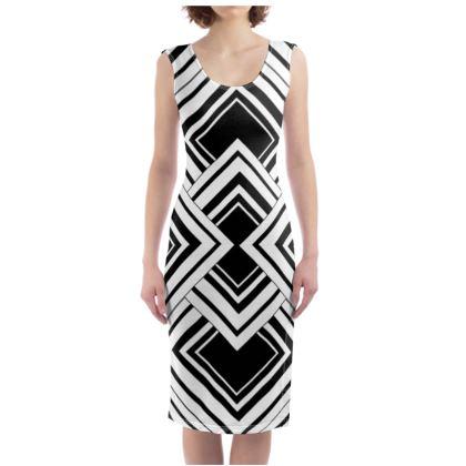 Bodycon Dress Black And White