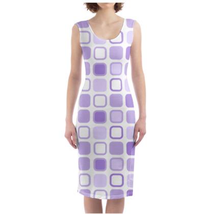 Retro Art Design Purple Bodycon Dress