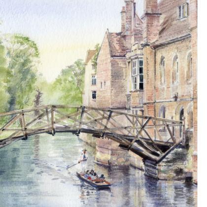 set of 6 coasters of Cambridge scenes