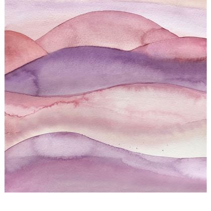 Abstract watercolor hills in blushpink - espadrilles