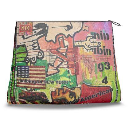 #clutch #bag-Tasche PAN AMERICAN Nappaleder
