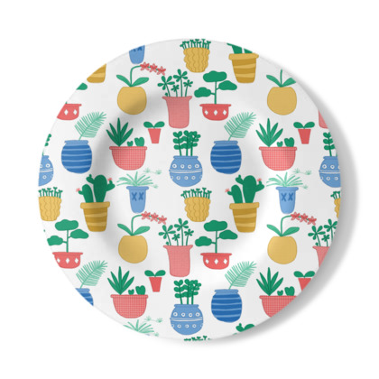 Decorative Plate - Potted Plants