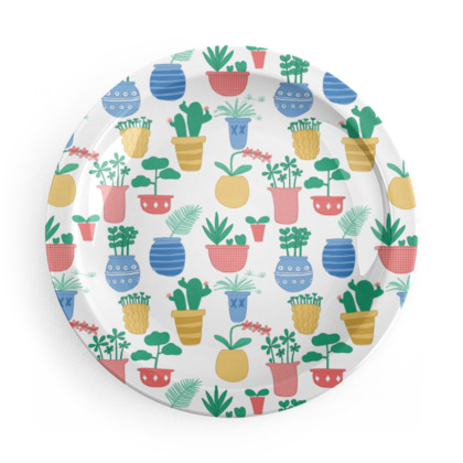 Party Plates - Potted Plants