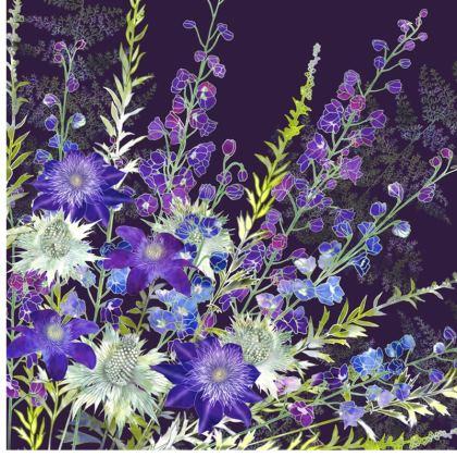 Purple Cluster Cushion