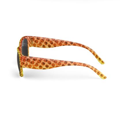 Orange Halftone Pattern Sunglasses