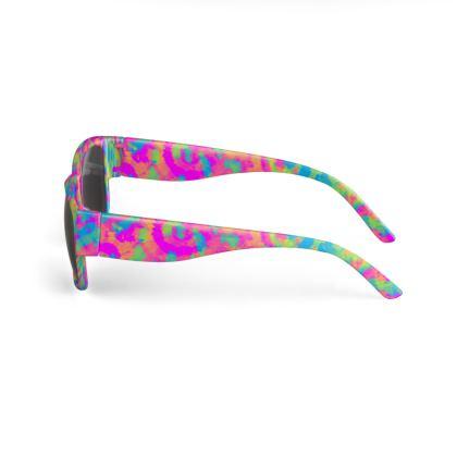 Neon Tie Dye Sunglasses