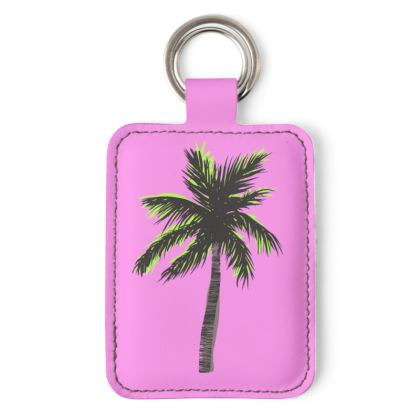 Keyring in Pink Palm
