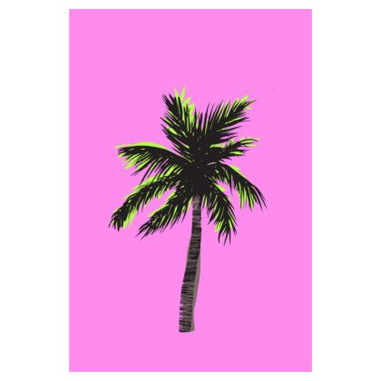 Luggage Tag in Pink Palm