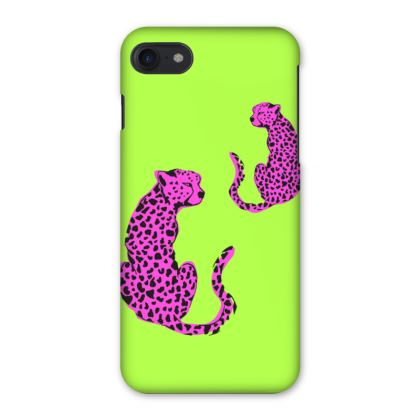 iPhone Case in Green & Pink Leopard