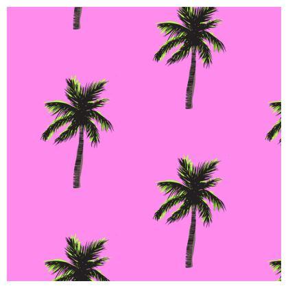Cushion in Pink Palm Print