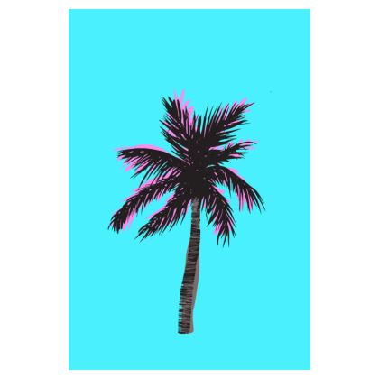 Luggage Tag in Blue Palm
