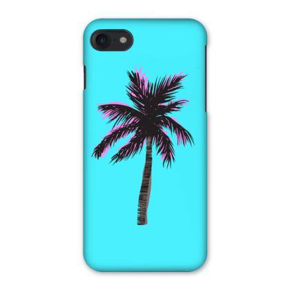 iPhone Case in Blue Palm