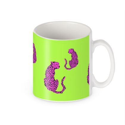Mug in Green & Pink Leopard