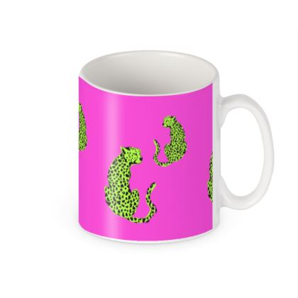 Mug in Pink & Green Leopard