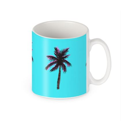 Mug in Blue Palm