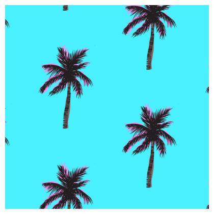 Cushion in Blue Palm Print