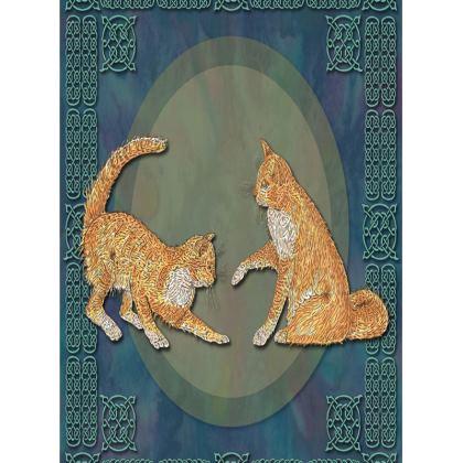 Celtic Cats Tray