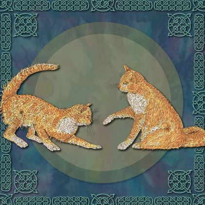 Celtic Cats China Plate