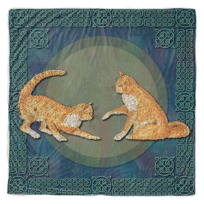 Celtic Cats Throw