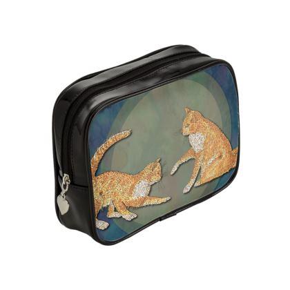 Celtic Cats Make Up Bag