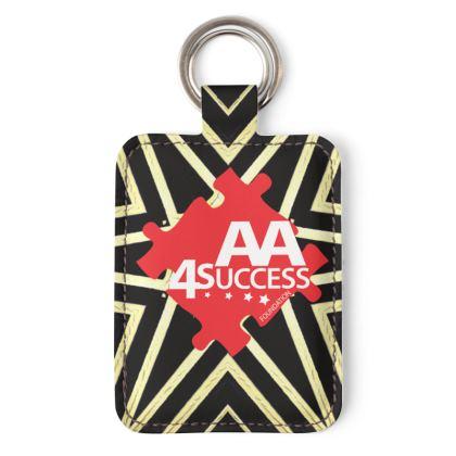 AA4Success GoldStar Leather Keyring