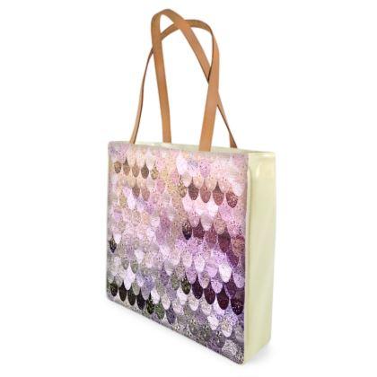 SUMMER MERMAID GOLD & LAVENDER - Shopper Bags