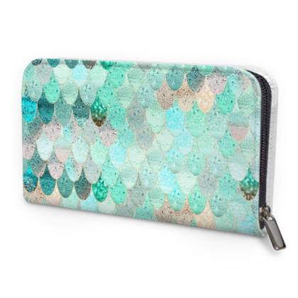 SUMMER MERMAID MINT - Zip Purse