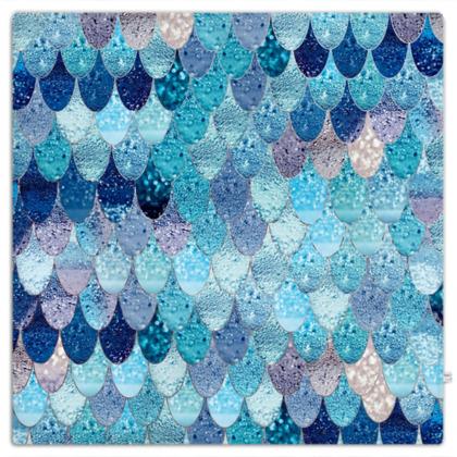 SUMMER MERMAID OCEAN BLUE - Picnic Blanket