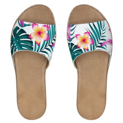 exotic Womens Leather Sliders