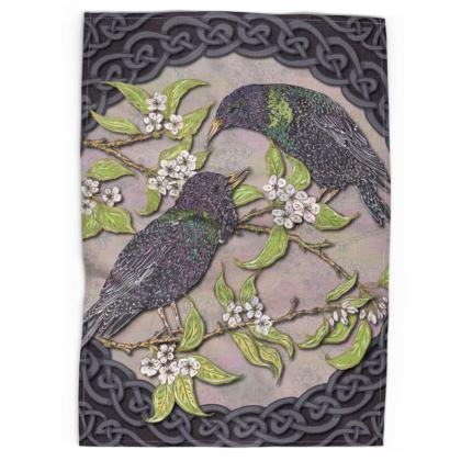 Celtic Starlings Tea Towel
