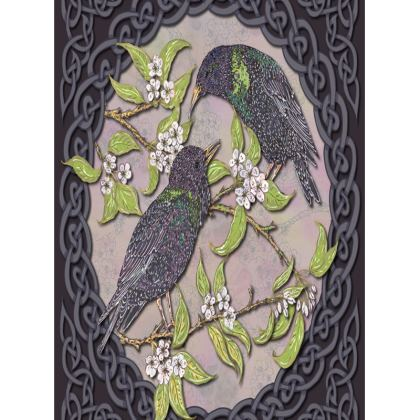 Celtic Starlings Tray