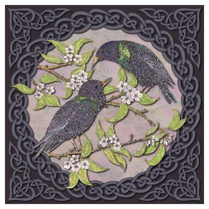 Celtic Starlings Serving Platter
