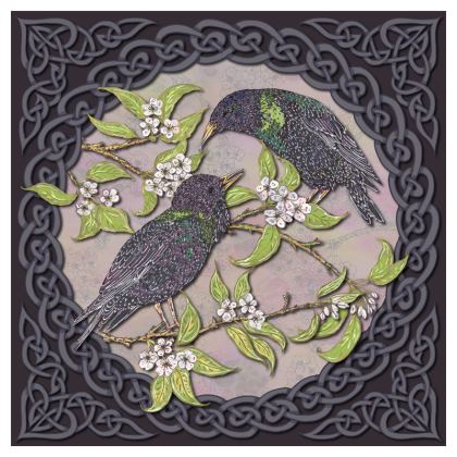 Celtic Starlings China Plate