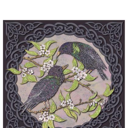 Celtic Starlings Bone China Mug