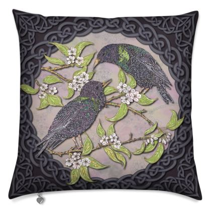 Celtic Starlings Cushion