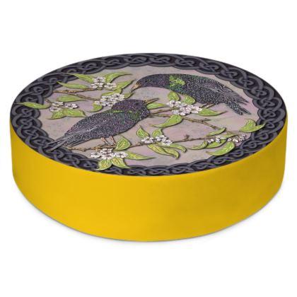 Celtic Starlings Floor Cushion