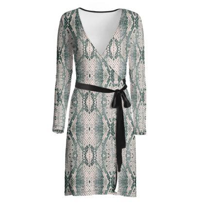 Serpent Wrap Dress